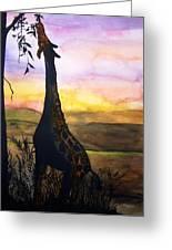 Giraffe Greeting Card by Laneea Tolley