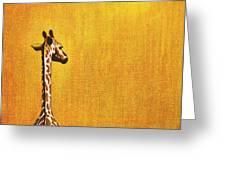 GIRAFFE LOOKING BACK Greeting Card by Jerome Stumphauzer