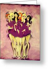 Girls Night Out Greeting Card by Diane Lane
