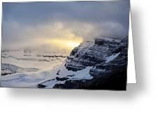Glacier Above Lake Louise Alberta Canada Greeting Card by Mary Lee Dereske