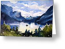 Glacier National Park Greeting Card by Spencer Meagher