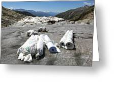Glacier Protection Greeting Card by Science Photo Library