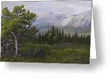 Glacier View Greeting Card by Bev Finger