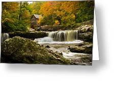 Glade Creek Grist Mill Greeting Card by Shane Holsclaw