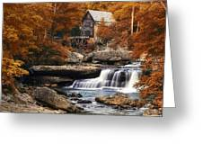 Glade Creek Mill In Autumn Greeting Card by Tom Mc Nemar