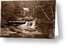 Glade Creek Mill In Sepia Greeting Card by Tom Mc Nemar