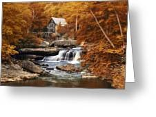 Glade Creek Mill Selective Focus Greeting Card by Tom Mc Nemar