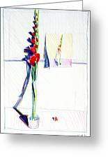 Gladiolas Pic. In Pic. Greeting Card by Mark Lunde