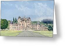 Glamis Castle Tayside  Greeting Card by David Herbert