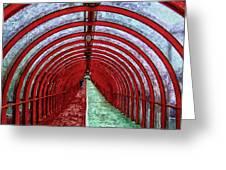 Glasgow Arcs Painting Greeting Card by Antony McAulay