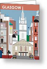 Glasgow Greeting Card by Karen Young