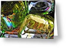 Glass Abstract 119 Greeting Card by Sarah Loft
