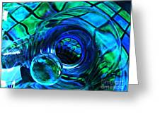 Glass Abstract 226 Greeting Card by Sarah Loft