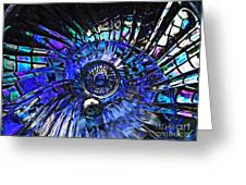 Glass Abstract 403 Greeting Card by Sarah Loft