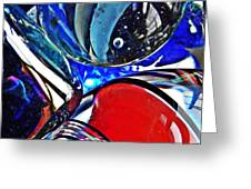Glass Abstract 507 Greeting Card by Sarah Loft