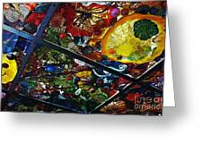 Glass Ceiling Abstract Greeting Card by Valerie Garner
