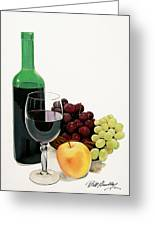 Glass Half Full Greeting Card by Bill Dunkley