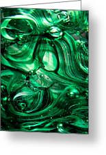 Glass Macro Abstract Egw Greeting Card by David Patterson