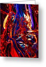 Glass Macro Abstract Flames Greeting Card by David Patterson
