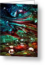 Glass Macro Abstract Rb3ce Greeting Card by David Patterson