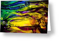 Glass Macro Abstract Rcy1 Greeting Card by David Patterson