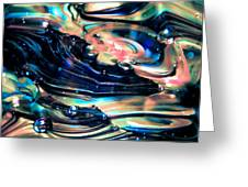 Glass Macro Abstract Rpoce Greeting Card by David Patterson