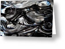 Glass Macro - Black And White Greeting Card by David Patterson