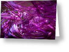Glass Macro - Deep Pinks IIi Greeting Card by David Patterson