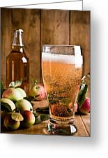 Glass Of Cyder Greeting Card by Amanda And Christopher Elwell