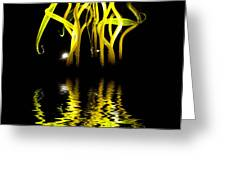 Glass Sculpture Yellow Flumes Greeting Card by Amy Cicconi