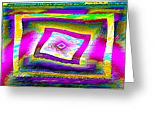 Glbtq Free And Unframed   Hi-saturation Version Greeting Card by Rebecca Phillips