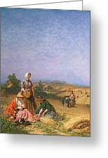 Gleaning Greeting Card by George Elgar Hicks