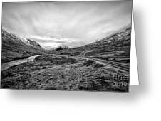 Glen Etive Road And River Greeting Card by John Farnan