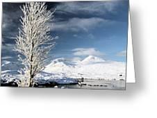 Glencoe Winter Landscape Greeting Card by Grant Glendinning