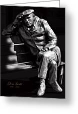Glenn Gould Greeting Card by Andrew Fare