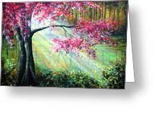 Glimmer Greeting Card by Ann Marie Bone