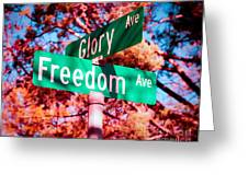 Glory Signs Greeting Card by Sonja Quintero