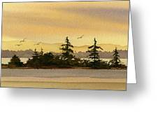 Glow Of Dawn Greeting Card by James Williamson