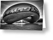 Glowing Bean Greeting Card by Sebastian Musial