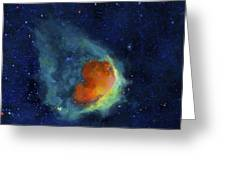 Glowing Emerald Nebula Greeting Card by Jim Ellis
