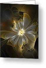 Glowing In Silver And Gold Greeting Card by Amanda Moore