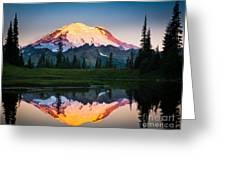 Glowing Peak Greeting Card by Inge Johnsson