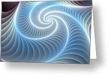 Glowing Spiral Greeting Card by Anastasiya Malakhova