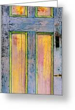 Glowing Through Door Greeting Card by Asha Carolyn Young