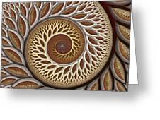Glynn Spiral No. 2 Greeting Card by Mark Eggleston