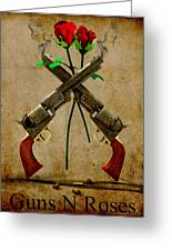 Gnr Tribute Greeting Card by Frederico Borges