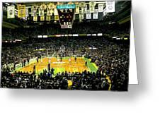 Go Celtics Greeting Card by David Schneider