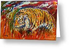 Go Get Them Tiger Greeting Card by Anastasis  Anastasi