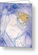 Goalie Missed Greeting Card by Rosemary Hayes