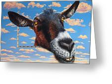 Goat A La Magritte Greeting Card by Jurek Zamoyski